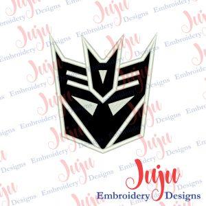 Decepticon Logo Applique Design