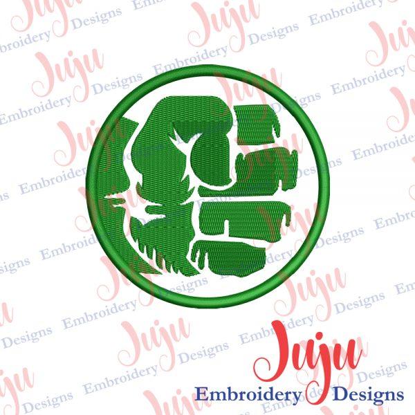 Hulk Logo Applique Embroidery Design