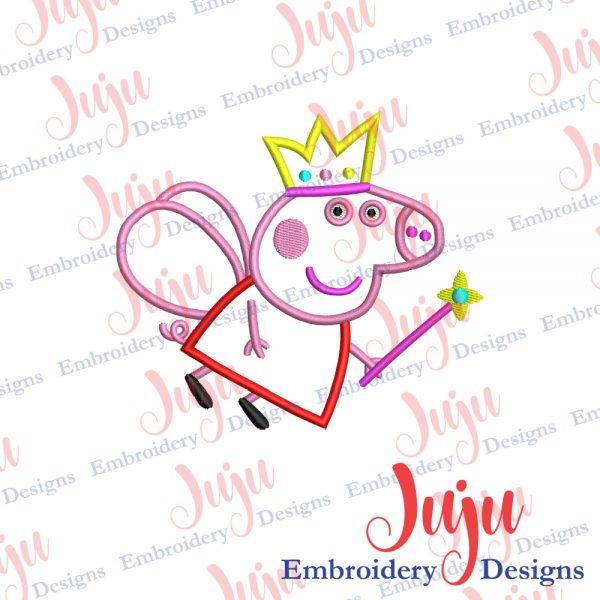 Peppa Pig Applique Embroidery Design