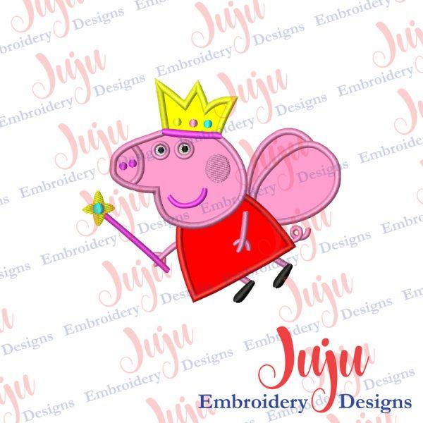 Peppa Pig Birthday Applique Design