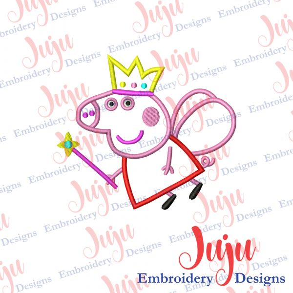 Peppa Pig Fairy Embroidery Design