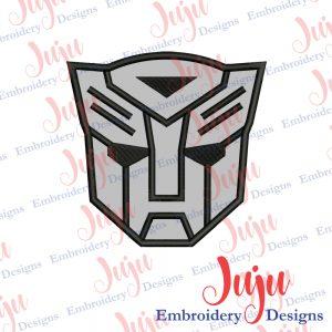 Transformers Mask Applique Design