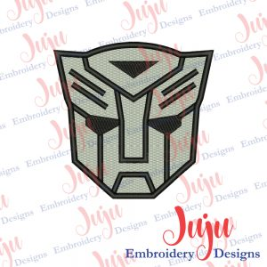 Transformers Mask Embroidery Design