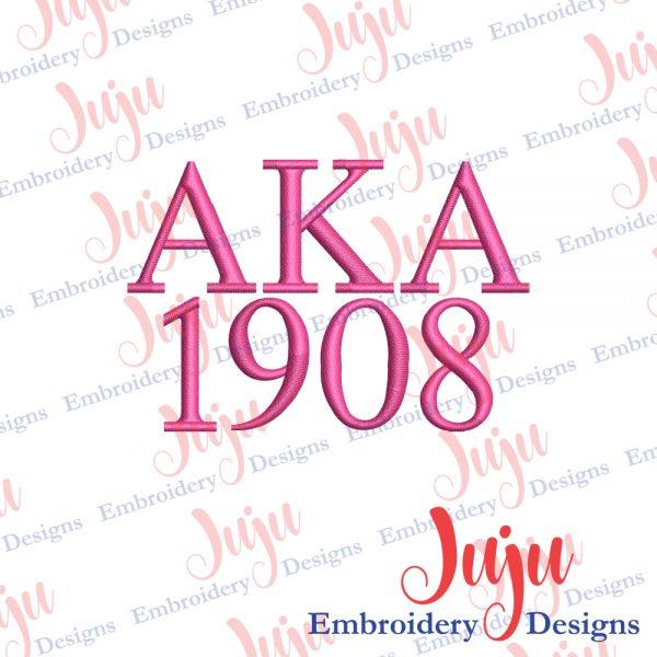 AKA Sorority Embroidery Designs