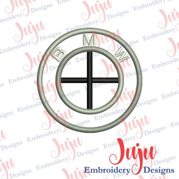 BMW Logo Applique Embroidery Design