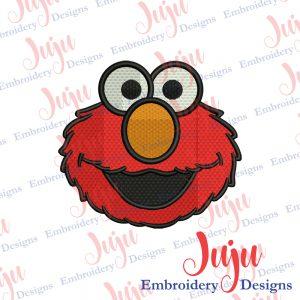 Elmo Face Embroidery Design