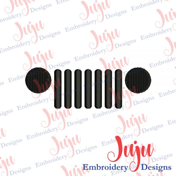 Jeep Grill Embroidery Design