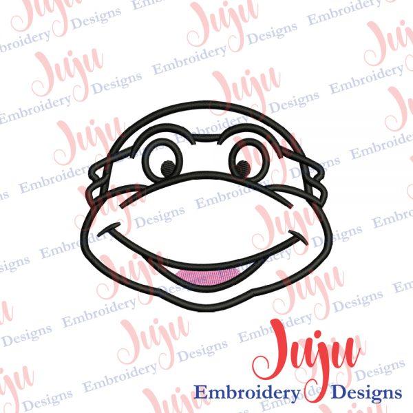 Ninja Turtle Face Applique Embroidery Design