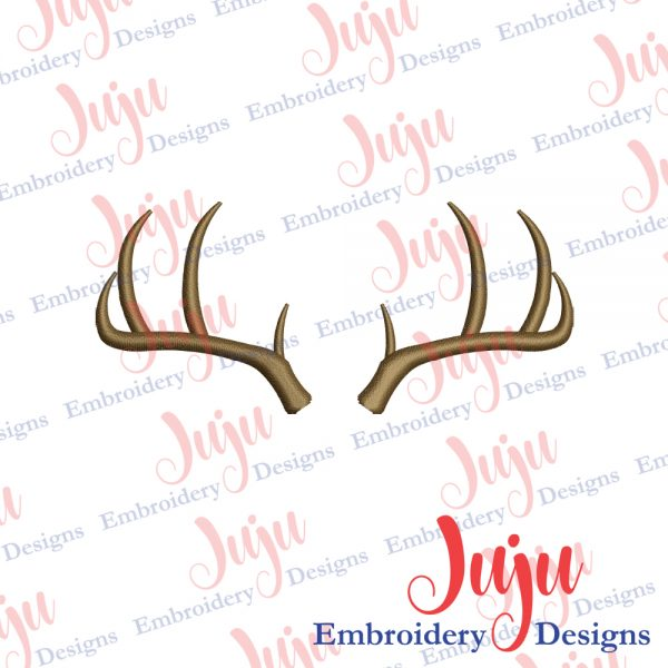 Deer Antlers Embroidery Design