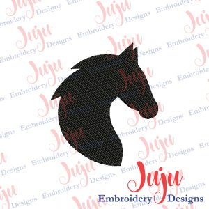 Horse Head Silhouette Embroidery Silhouette Design