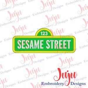 Sesame Street Applique Design