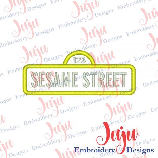 Sesame Street Logo Applique Design