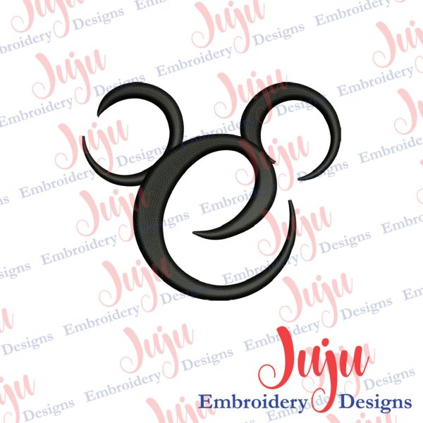Mickey Spiral Head Embroidery