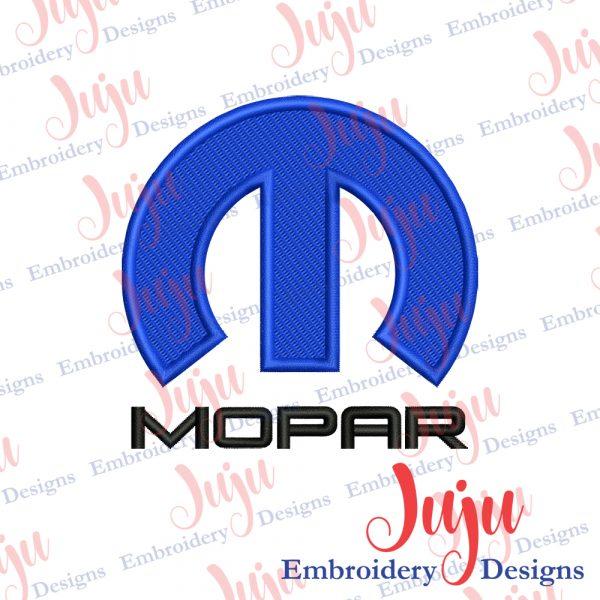 Mopar Logo Embroidery Design