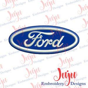Ford Applique Embroidery Design
