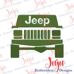 Jeep XJ Embroidery Design