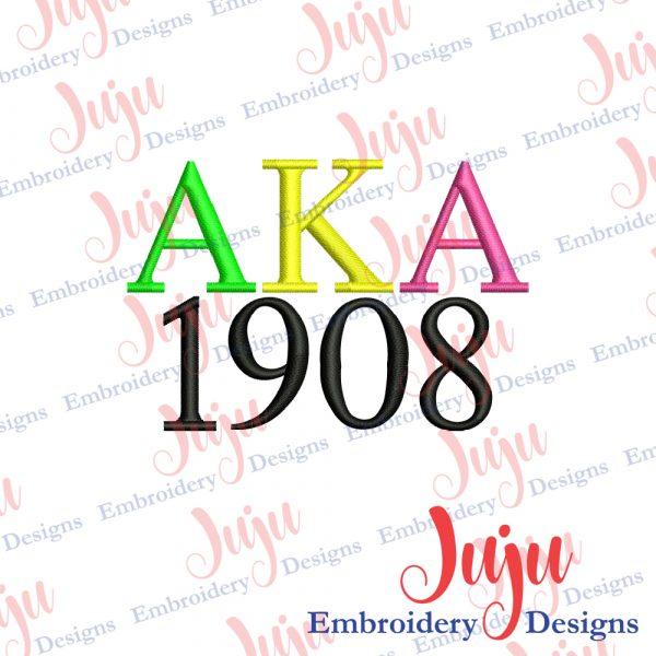 Alpha Kappa Alpha Embroidery Design