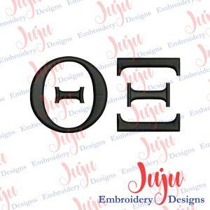 Theta XI Embroidery Design
