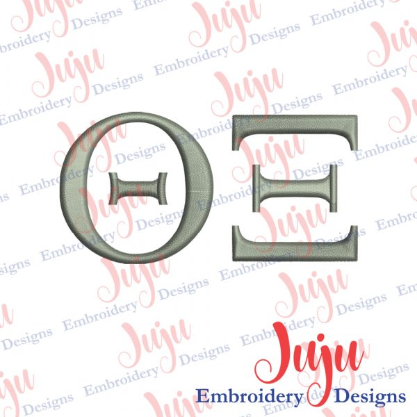 Theta XI Sign Embroidery Design